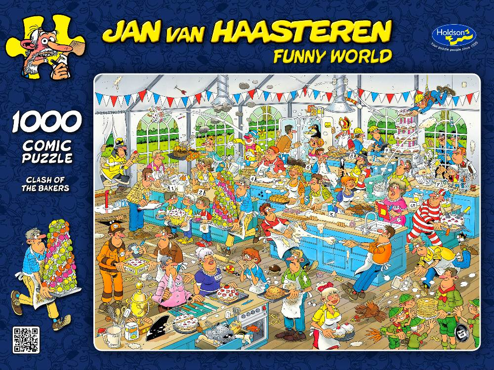 JVH Funny World Clash of the Bakers 1000 Piece Puzzle