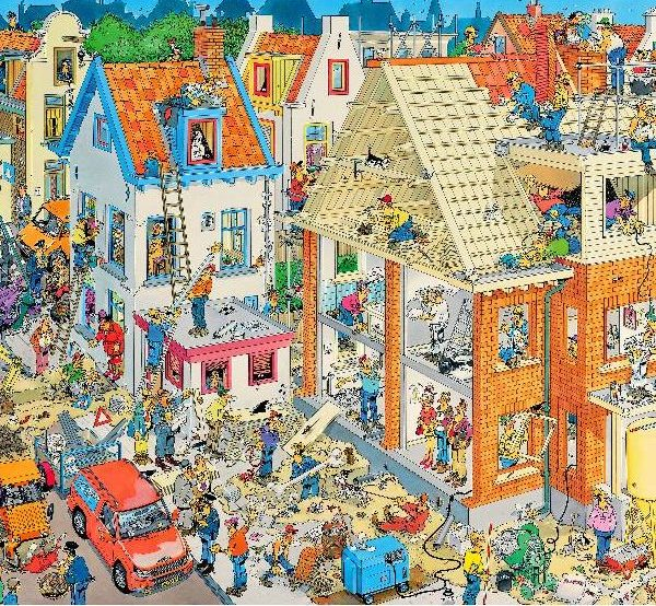 JVH Funny World The Building Site 1000 Piece Puzzle