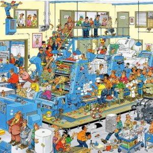 JVH Funny World The Printing Office 1000 Piece Puzzle