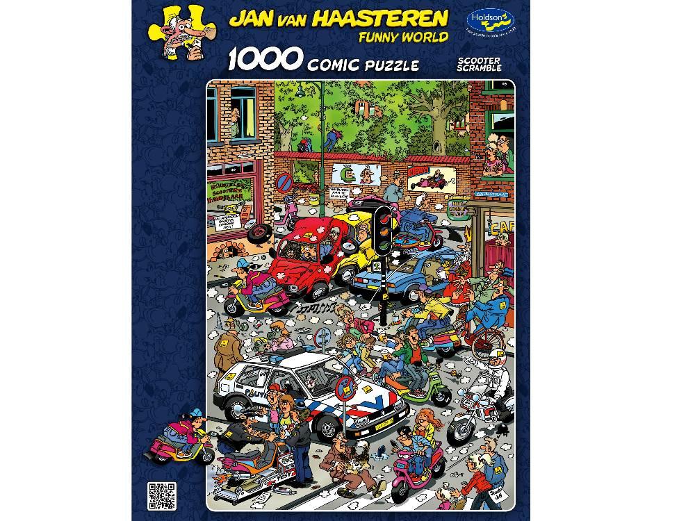JVH Scooter Scramble 1000 Piece Holdson Puzzle