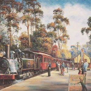 John Bradley - Arrival of Puffing Billy 1000 Piece Puzzle