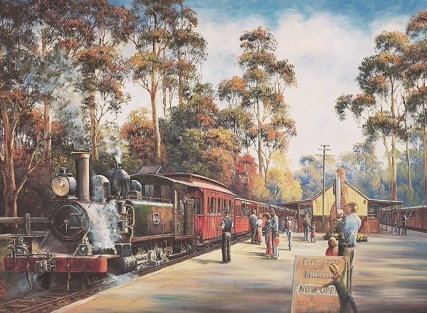 John Bradley – Arrival of Puffing Billy 1000 Piece Puzzle