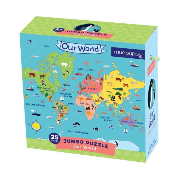 Jumbo Puzzle - Our World 25 Piece - Mudpuppy