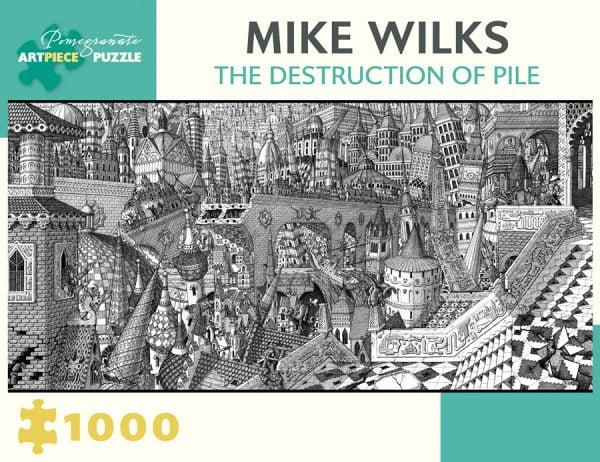 Mike Wilks - The Destruction of Pile 1000 Piece Pomegranate Puzzle