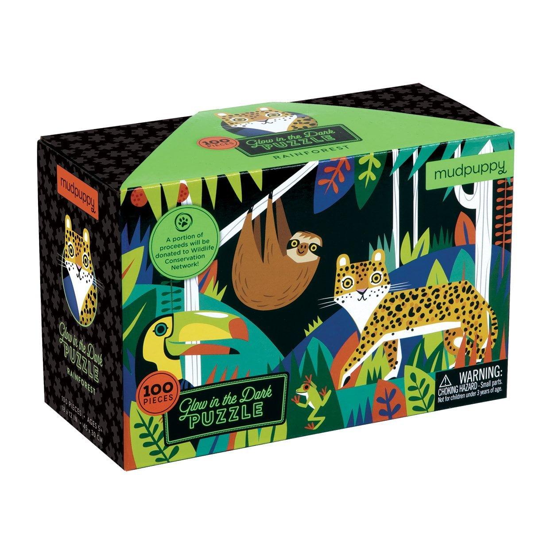 Mudpuppy Rainforest Glow in the Dark 100 Piece Puzzle