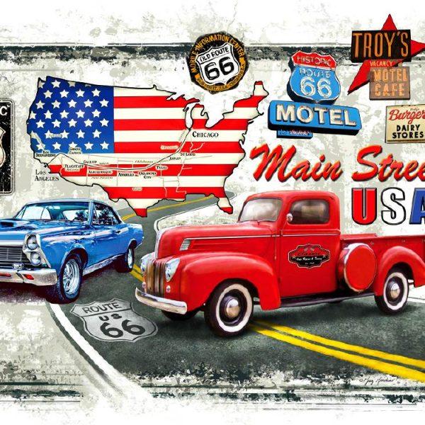 Old Route 66 1000 Piece Piatnik Puzzle