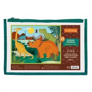 Pouch Puzzle - Dinosaur Park 12 Piece - Mudpuppy