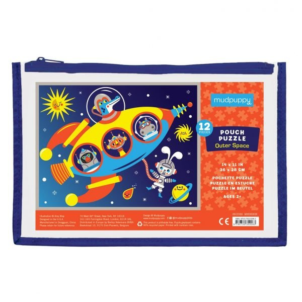 Pouch Puzzle - Outer Space 12 Pieces - Mudpuppy