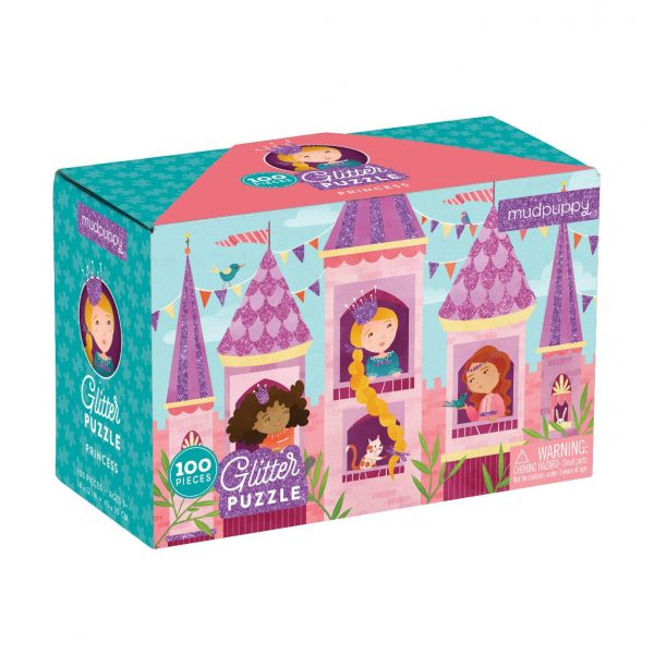 Princess Glitter Puzzle 100 Piece – Mudpuppy