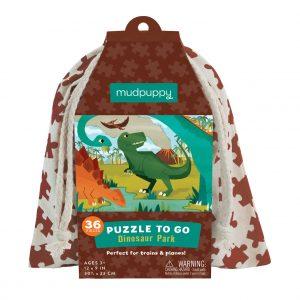 Puzzle to Go - Dinosaur Park 36 Piece - Mudpuppy