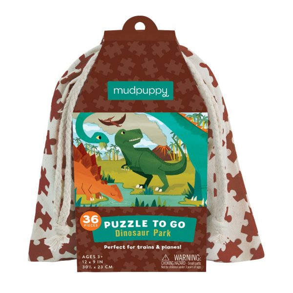 Puzzle to Go – Dinosaur Park 36 Piece – Mudpuppy