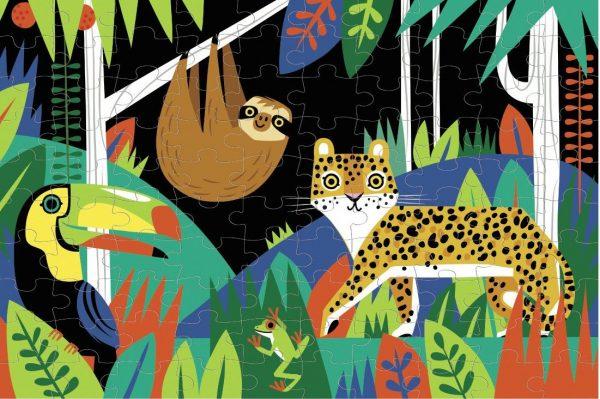 Rainforest Glow in the Dark 100 Piece Puzzle - Mudpuppy