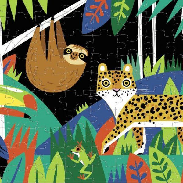 Rainforest Glow in the Dark 100 Piece Puzzle – Mudpuppy