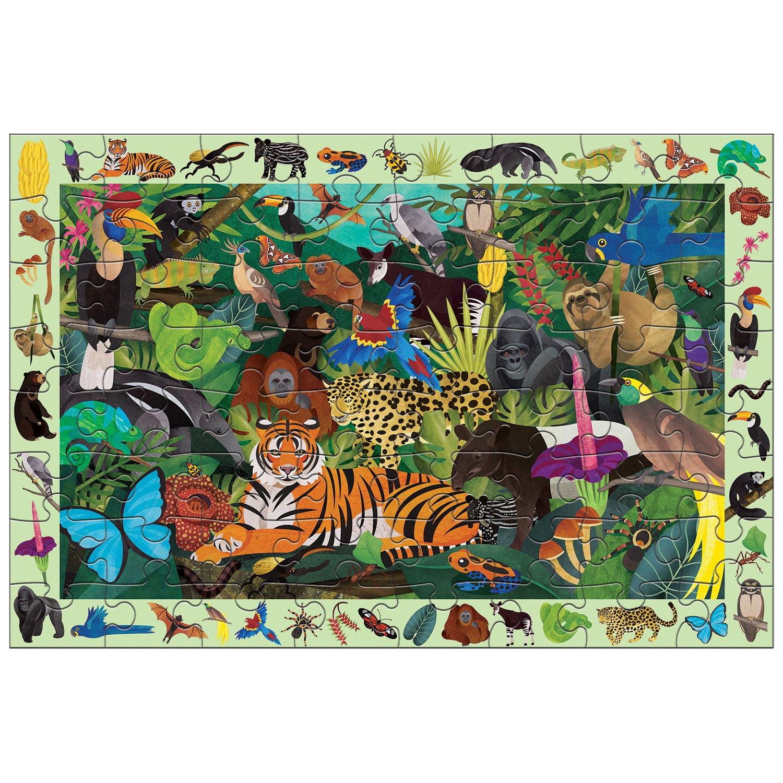 Rainforest Search & Find 64 Piece Puzzle - Mudpuppy