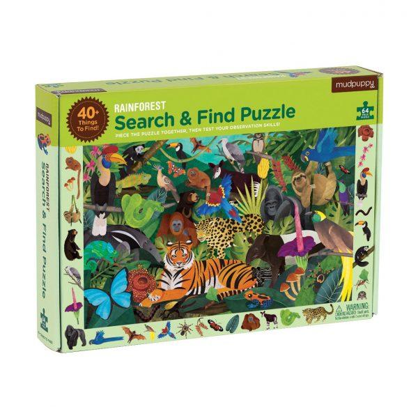 Rainforest Search & Find 64 Piece Puzzle – Mudpuppy