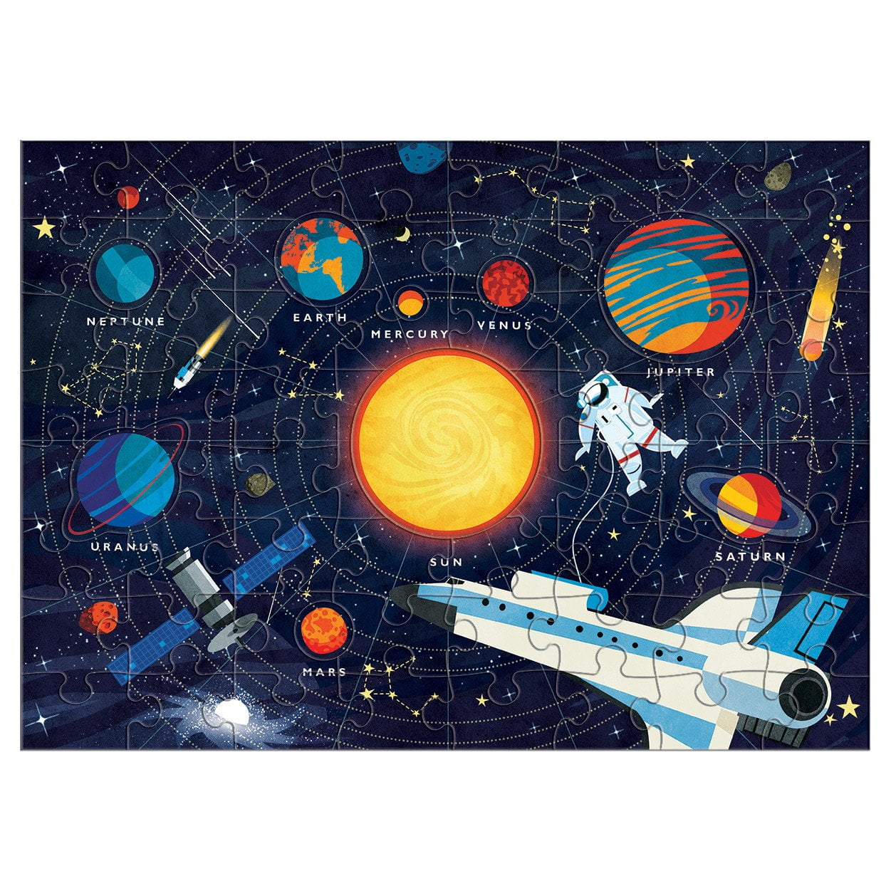 SOLAR SYSTEM 70 PIECE PUZZLE FROM