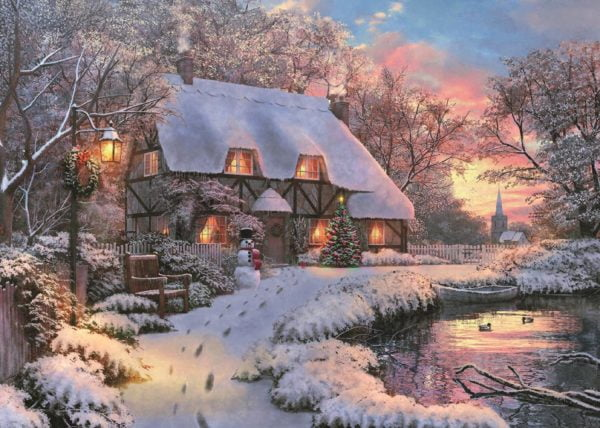 The Poets Cottage 1000 Piece Puzzle by Jumbo