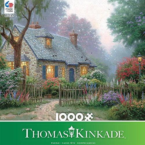 Thomas Kinkade – Foxglove Cottage 1000 Piece Ceaco Puzzle