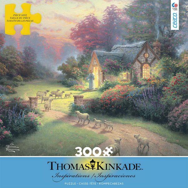 Thomas Kinkade – Inspirations – The Good Shepherd's Cottage 300 Large Piece Puzzle
