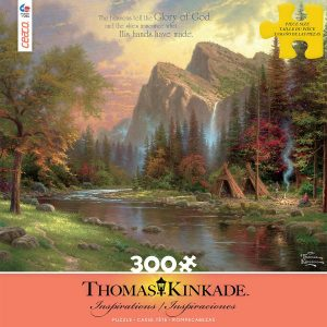 Thomas Kinkade - Inspirations - The mountains Declare his Glory 300 Large Piece Puzzle