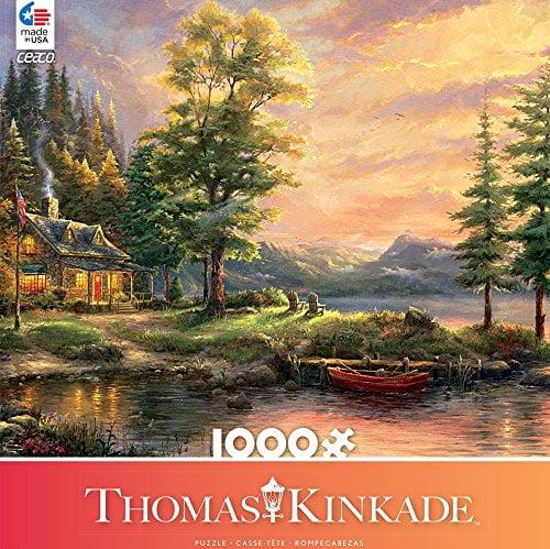 Thomas Kinkade – Morning Light Lake 1000 Piece Ceaco Puzzle