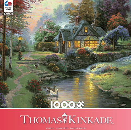 Thomas Kinkade – Stillwater Cottage 1000 Piece Ceaco Puzzle