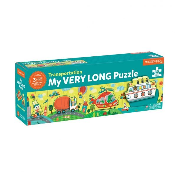Transportation - My Very Long Puzzle 30 Piece - Mudpuppy