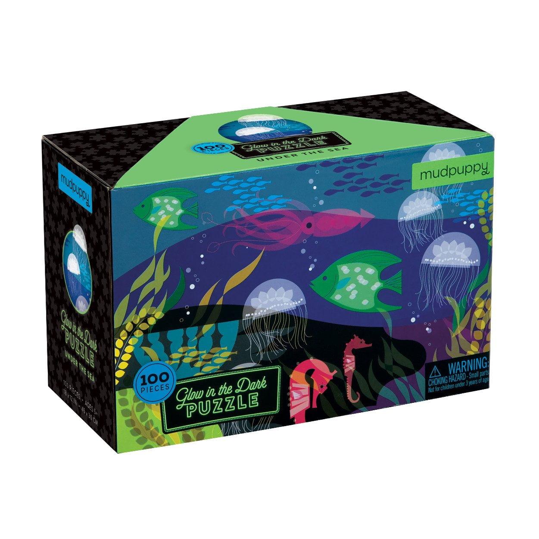 Under the Seas - Glow in the Dark 100 Piece Puzzle - Mudpuppy