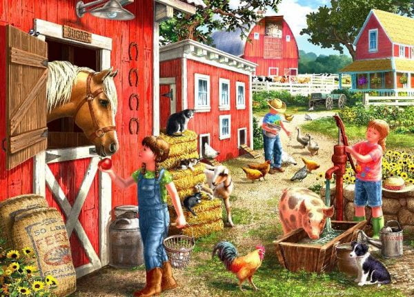 Young at Heart - Farmhouse Chores 500 XL Piece Puzzle