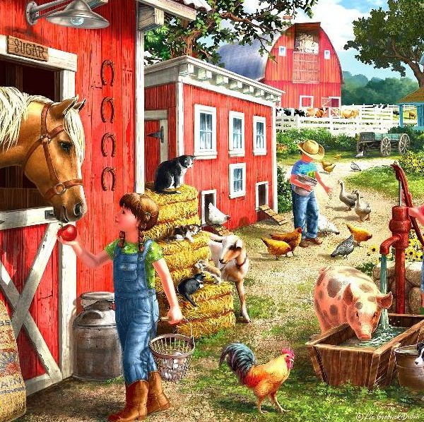 Young at Heart – Farmhouse Chores 500 XL Piece Puzzle