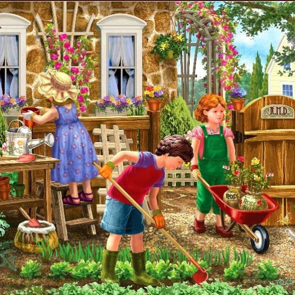 Young at Heart – Gardening Fun 500 XL Piece Holdson Puzzle