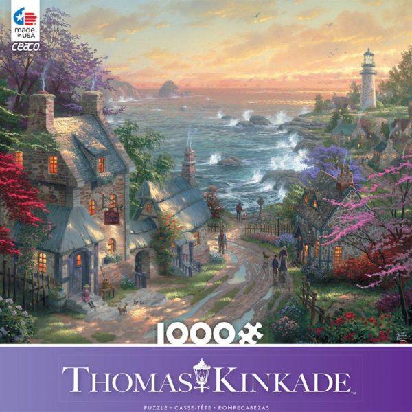 Thomas Kinkade – The Village Lighthouse 1000 Piece Ceaco Puzzle