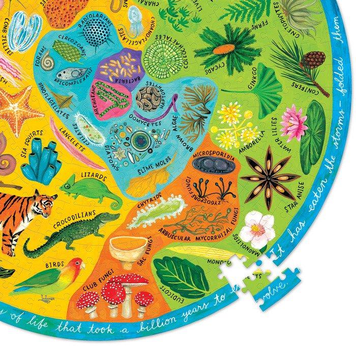 Biodiversity 500 Piece Round Puzzle - eeBoo