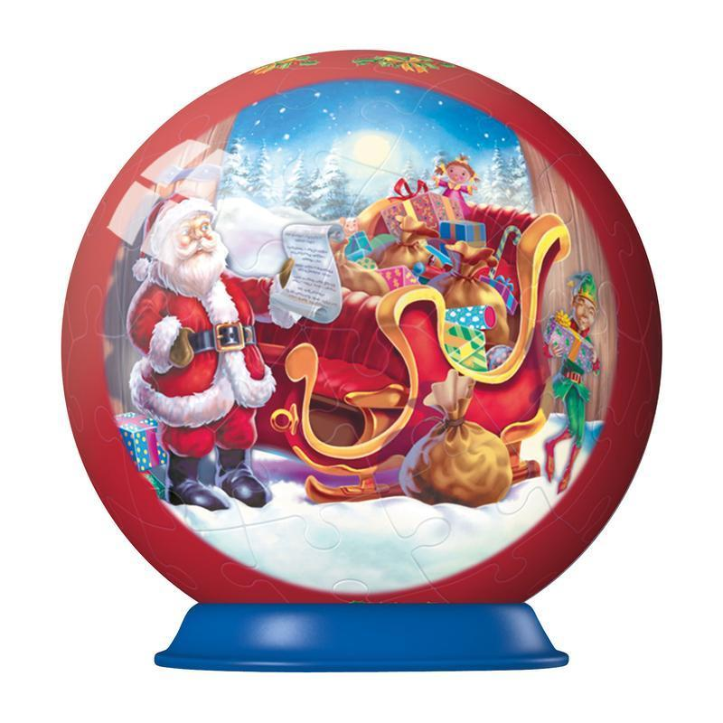 3D Christmas Ornaments (Set 2) - Santa & His Sleigh