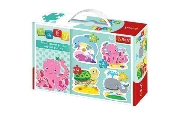 Baby Classic Ocean 4-in-1 Puzzle Set Trefl