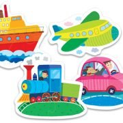 Baby Classic - Vehicles 4 in 1 Puzzle Set - Trefl