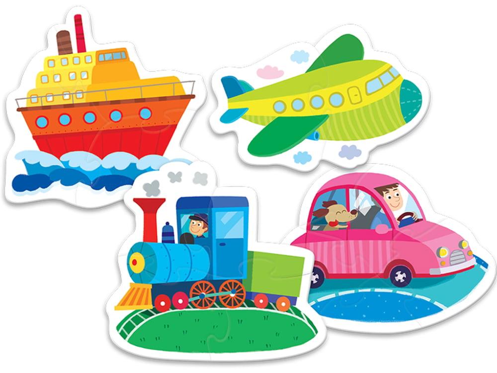 Baby Classic - Vehicles 4 in 1 Puzzle Set - Trefl