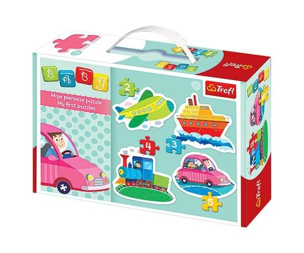 Baby Classic – Vehicles 4 in 1 Puzzle Set – Trefl