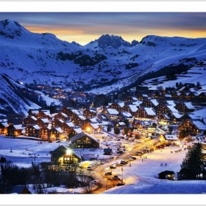 Beautiful Dusk in French Alps Resort 1000 Piece Pintoo Puzzle