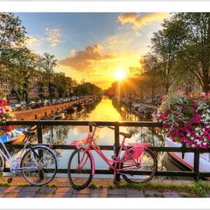 Beautiful Sunrise over Amsterdam 1000 Piece Puzzle - Pintoo