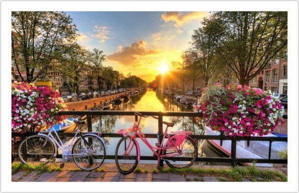 Beautiful Sunrise over Amsterdam 1000 Piece Puzzle - Pintoo