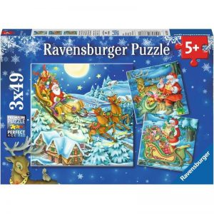 Christmas Magic 3 x 49 Piece Ravensburger Puzzle