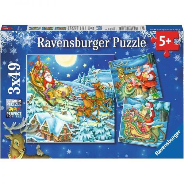 Christmas Magic 3 x 49 Piece Ravensburger Puzzle