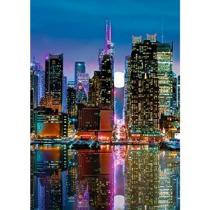 Full Moon over Manhattan 500 Piece Jigsaw Puzzle