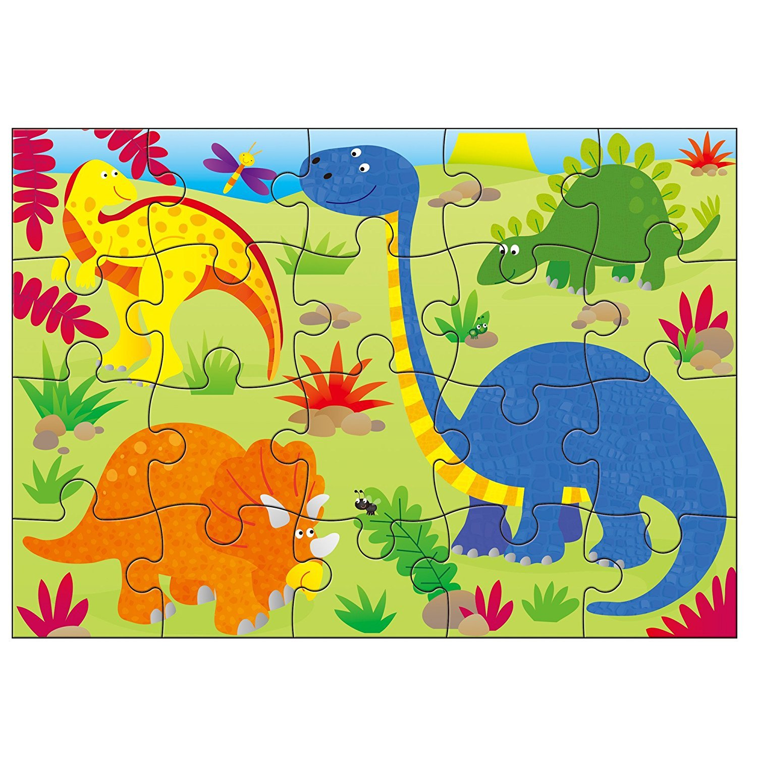 Galt - 4 Puzzles in a Box - Dinosaurs