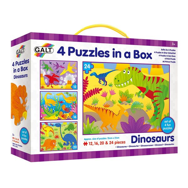 Galt – 4 Puzzles in a Box – Dinosaurs