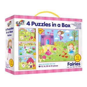 Galt - 4 Puzzles in a Box - Fairies