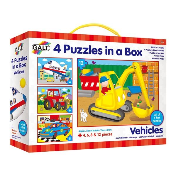 Galt – 4 Puzzles in a Box – Vehicles