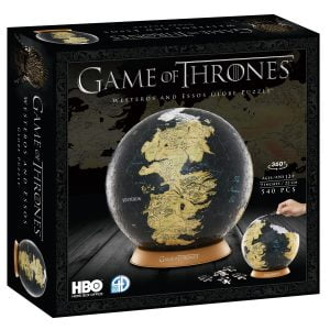 Game of Thrones 4D (22CM) 540 Piece Puzzle Globe
