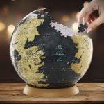 Game Of Thrones 4d 22cm 540 Piece Puzzle Globe